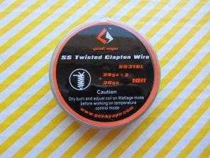 GeekVape SS Twisted Clapton SS316L Wire 28GA*2/Twisted + 30GA